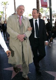 Actor Donald Sutherland and actor son, Keifer Sutherland. Donald Sutherland, Kiefer Sutherland, Hollywood Boulevard, Hollywood Walk Of Fame, Tony Soprano, Old Movie Stars, Saint John, Father And Son, London
