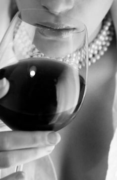 Women, wine and pearls. That's a great date night