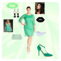 """And After Dinner Mint"" by quinz ❤ liked on Polyvore featuring AGB, Anne Michelle, Torrid, Antonello Tedde, Nathalie Jean and Lime Crime"