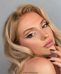 Edgy Makeup, Makeup Eye Looks, Cute Makeup, Pretty Makeup, Skin Makeup, Amazing Makeup, 90s Makeup, Brown Eyes Makeup, Brown Makeup Looks