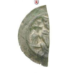 Hildesheim, Bistum, Heinrich I., Brakteatenhälfte, ss+: Heinrich I. 1247-1257. Brakteatenhälfte. Bischof mit zwei Kreuzen auf… #coins