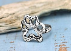 NEW Open Paw ring by Island Cowgirl Jewelry. Always have a reminder of your furry friend with the Open Paw #ring. #handmadejewelry #uniquejewelry