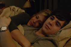 Ep. 9 Underwater (Bates Motel) Pic 12/14 Norma asks Norman (Freddie Highmore) if she can spend the night in his room, as she's too scared to be alone in hers. He offers to sleep on the floor, but she tells him not to be silly. As they curl up, she apologizes for making them move so much, and he apologizes for calling her crazy. They turn out the lights to go to sleep. AETV.com
