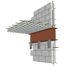 Free: 12 Common Construction Details Fully Modeled in SketchUp - Architizer Metal Building Kits, Metal Building Homes, Steel Structure Buildings, Structure Metal, Steel Frame Construction, Construction Design, Architectural Materials, 3d Modelle, Roof Detail