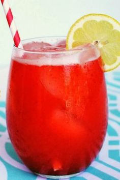 From Hot Mama in the City: Strawberry Mango Lemonade -- cold, delicious and easy to make! It's #5 on our list