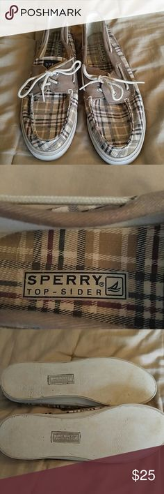 Sperry Top Sliders Gently used brown plaid Sperry shoes. Sperry Top-Sider Shoes Flats & Loafers
