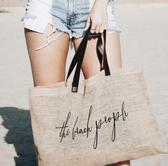 The essential beach bag. via @kendallbaggerly