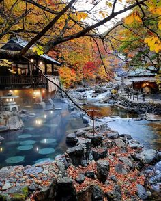 As legend has it one of the natural hot springs at Takaragawa Onsen Osenkaku miraculously cured the 12th emperor of #Japan  Check out this Certificate of Excellence-winning hotel on TripAdvisor where todays lowest prices from up to 200 sites await! #HotelGoals