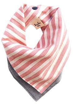 kishu baby Organic Bandana Bib Reversible Americana Stripe, Multicolor, One Size