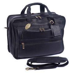 ClaireChase Personalized Guardian Computer Briefcase - Black - 150E-BLACK