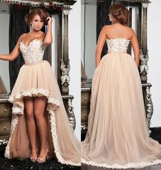 152 usd.Champagne Prom Dresses High Low Tulle Sweetheart Arabic Women Formal Evening Dress Hi-lo Ball Gowns A-line Party Cocktail Dress