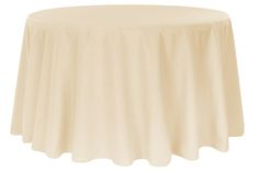 """Polyester 108"""" Round Tablecloth - Nude (Deal of the week. Ends 09-15)"""