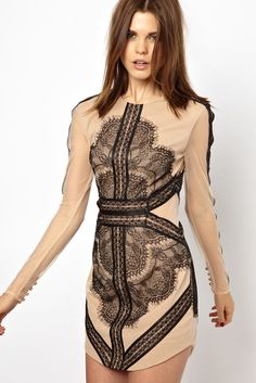 565156ef802165 Black Eyelash Detail Mademoiselle Vintage Dress LC21597-2 Sexy Dresses