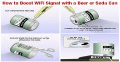 I boosted my home Wi-Fi signal with empty beer cans!! Why don't you implement…