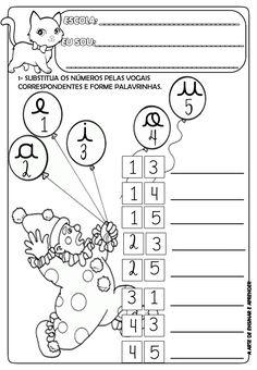 Atividade para trabalhar com encontro vocálico cursivo