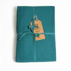 Tafelkleed, blauwgroen, 150 x 250 cm
