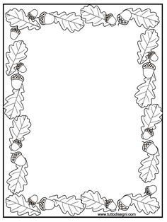 Fall Coloring Pages, Coloring For Kids, Free Coloring, Coloring Sheets, Coloring Books, Picture Borders, Page Borders, Borders And Frames, Fall Crafts