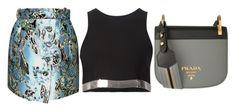 Black, Grey & Shine by carolineas on Polyvore featuring polyvore, fashion, style, Thierry Mugler, Balenciaga, Prada and clothing