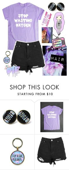 """Pastel Goth"" by watermelonandmusyc ❤ liked on Polyvore"