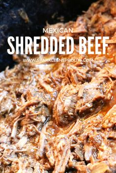 Slow Cooker Mexican Shredded Beef is a perfect fix for dinner this week. Use it for tacos, enchiladas or sandwich's.  PS... You can use chicken if you want