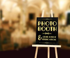 Photobooth printable sign: grab a prop and strike by PartyGraphix