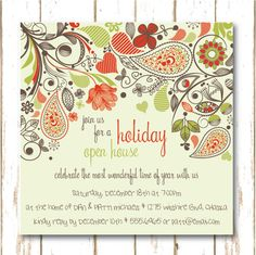 Holiday Open House Party Invitations Open House Invitation