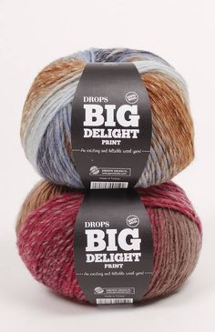 DROPS Big Delight, An exciting and feltable wool yarn, 100gr by abKnitwear on Etsy