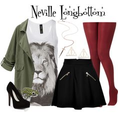 Neville Longbottom // Harry Potter by glitterbug152 on Polyvore featuring polyvore, fashion, style, Juicy Couture, Pour La Victoire, Thomas Sabo, Rachel Roy, clothing, harrypotter and Gryffindor