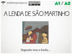 Atividade online para os níveis A1/B1: A Lenda de São Martinho.