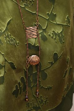 Copper statement necklace with semi precious by MadeInHudson