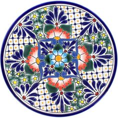 #RusticaHouse #talavera #plates can be used for #dining as well as #decoration accents. Country style #Tableware made of #ceramic is available in two sizes. Both of them have a ribbon on the back for hanging on the wall. Delivery time of the #Tableware from Mexico to the US takes about four weeks. #myRustica