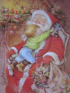 lisi martin artist | Artist postcard. signed Lisi Martin. Christmas . Love by grandma62