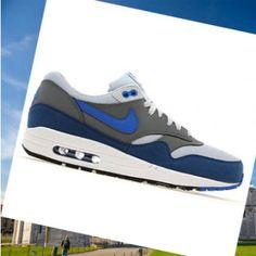 Scarpe da ginnastica Nike Air Max 1 Uomini Geyser grigio grigio blu  frossodo Premere Italia