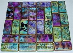 ShopHandmade - Altered Art Dominoes