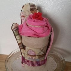 As a gift you can make it in the towel cupcake . . . yummy!!!