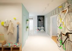 Bicycle storage can also be an issue in urban apartments. Offering a stylish solution can go a long way towards making city live livable.