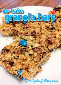 No Bake Home Made Granola Bars! Does it get any easier?!  And they are SO yummy! #FamilyStorytelling