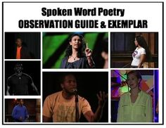 Spoken Word Observation & Response Guide: Enjoy 12 culturally relevant spoken word performances while keeping track of literary devices, presentation techniques and themes.The easy-to-use checklist, reflection and 12 suggested poems are perfect for introducing poetry, literary devices, theme, or tone. They are also perfect for jumpstarting meaningful discussion about race, class, gender, prejudice, disability and inequality. #spokenwordforkids #poetryactivities