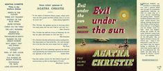 Evil Under the Sun. Agatha Christie.Dust jacket