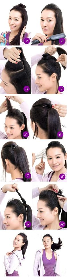 Make a Spring  ponyTail For Your Hair
