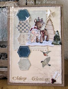 A card made with one of the images from the Secret stamp kit winter 2013.