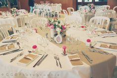 Les moineaux de la mariée: ♥ Charline & Alex (FR) ♥ - Vrai mariage- Jolie table avec une déco bien dosée en quantité