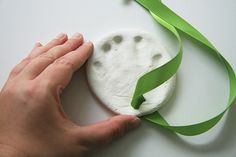 Baby handprint ornaments