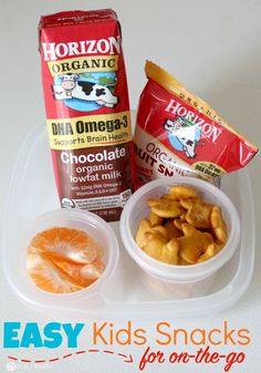 Easy Kids snacks for on-the-go families. @Horizon_Organic #MealtimeSolutions #ad