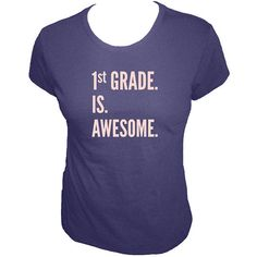 00a842057 Teacher Shirt - First Grade is Awesome - Grade Teacher Scohol - Organic T  Shirt - Organic Bamboo and Cotton T Shirt - Gift Friendly