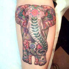 Baby Elephant Tattoo Idea