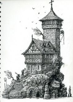Old_Tower_Leo_Hartas_Illustration