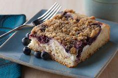Blueberry Cheese Streusel Coffee Cake - Fleischmann's Yeast