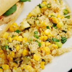 Quinoa, Zucchini And Corn In Lemon Butter - I could see myself stuffing this inside a lettus wrap, yum!