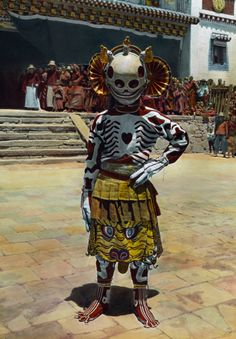 magictransistor: Joseph F. Rock. Choni Skeleton Dancer. 1925. | light will someday split you open | Bloglovin'